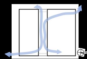 horizontal air movt