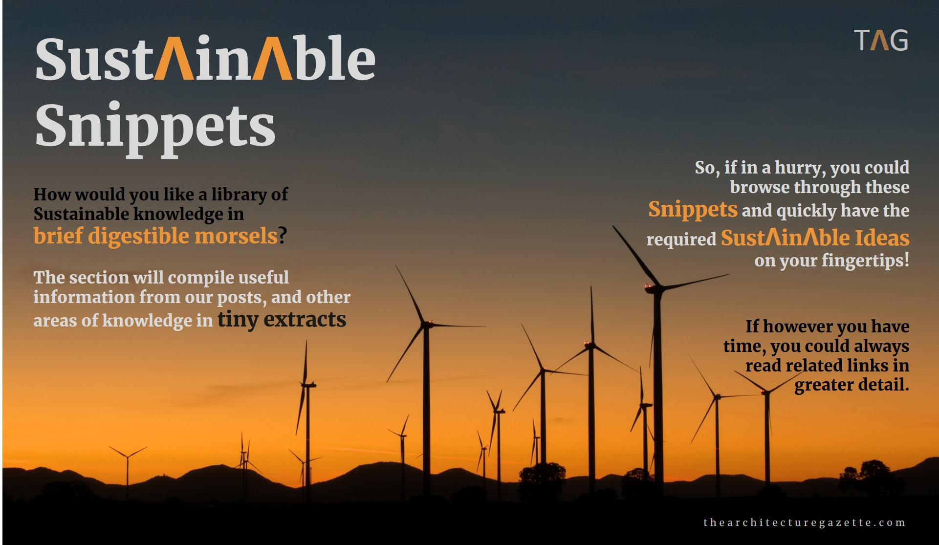 Sustainable Snippets